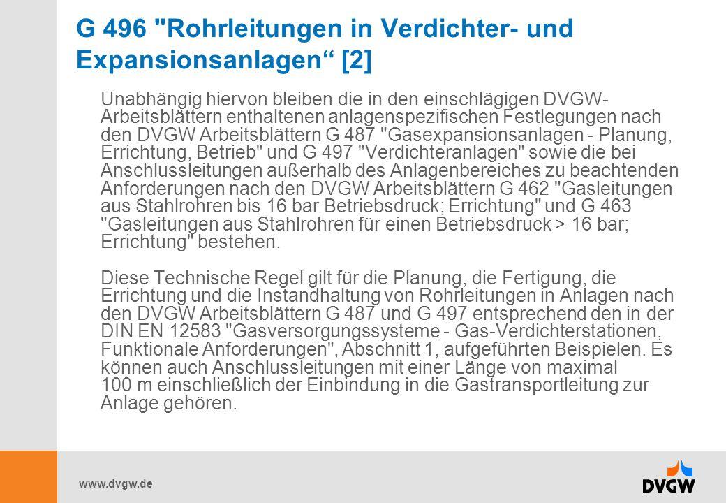 G 496 Rohrleitungen in Verdichter- und Expansionsanlagen [2]